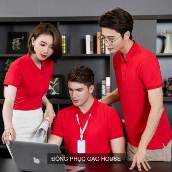 Áo đồng phục công ty màu đỏ XCT010