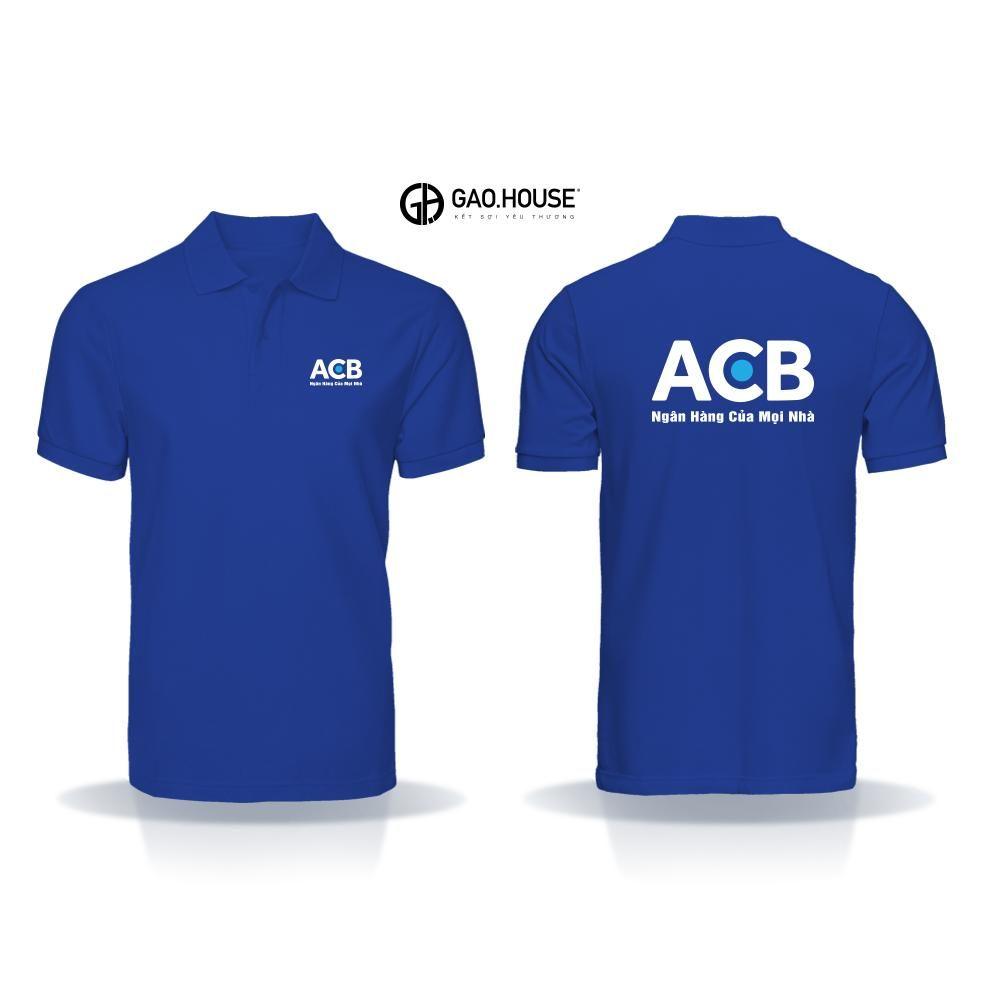Áo thun đồng phục ngân hàng ACB XNH016 - Đồng phục Gạo House