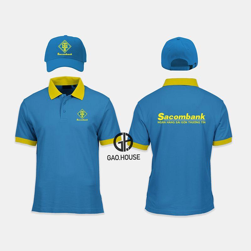 Áo thun đồng phục ngân hàng Sacombank XNH020 - Gạo House