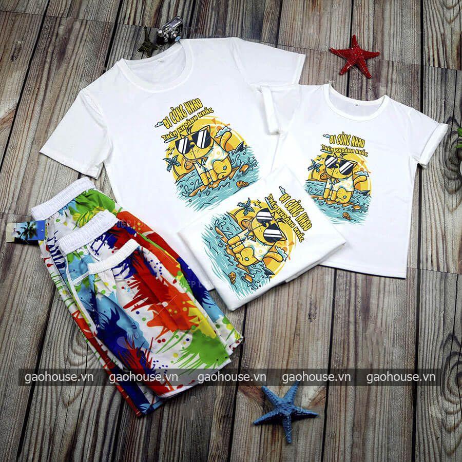 Set quần áo đồng phục đi biển XDB011 - Gạo House