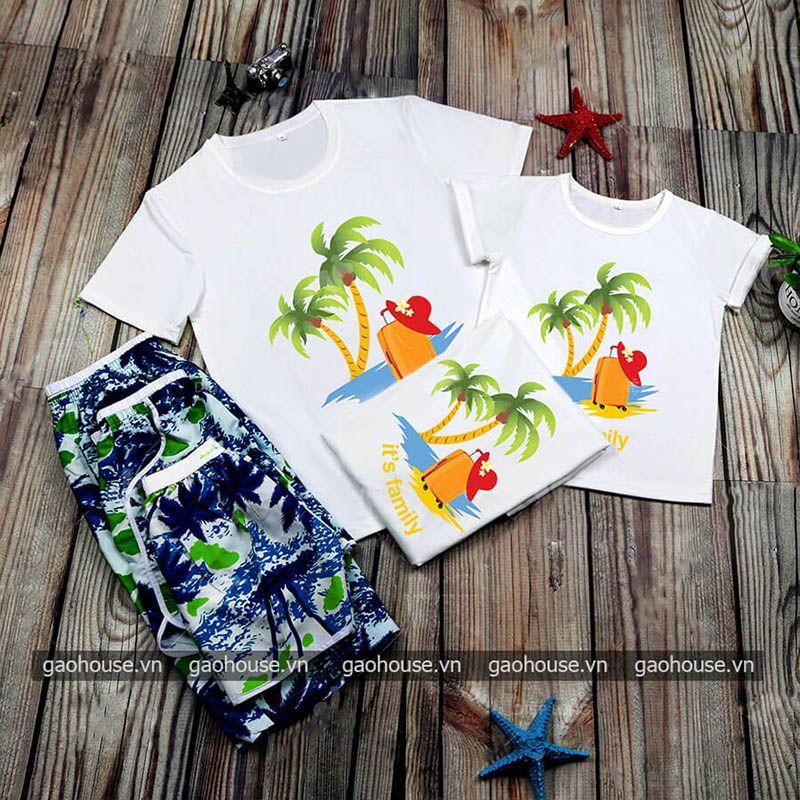 Set áo đồng phục đi biển XDB017 - Gạo House